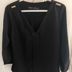 Zara blouse black, Size S